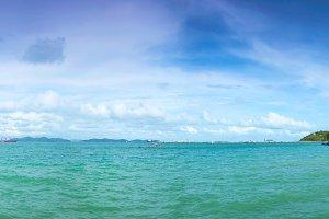 panorama view seaside.