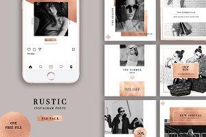 Rustic Instagram Posts + Free File