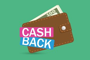 Eight  illustrations on cash back