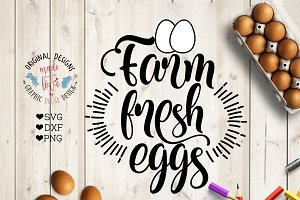 Farm Fresh Eggs Cutting File