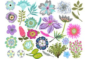 Flowers Clip Art Tropical