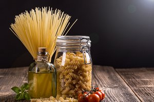 Fusilli in a jar
