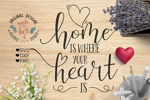 Home is where you heart is Cut File