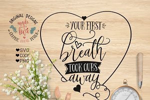 Your First Breath Nursery SVG File