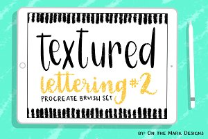 Textured Lettering Brushes Set 2