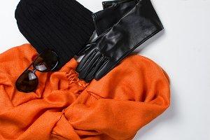 Collage of feminine autumn clothing