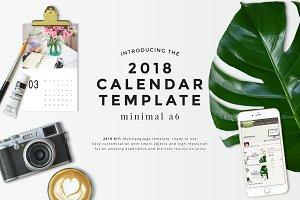 Minimal A6 - 2018 Calendar Template