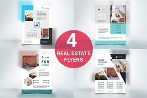 4 Real Estate Flyers