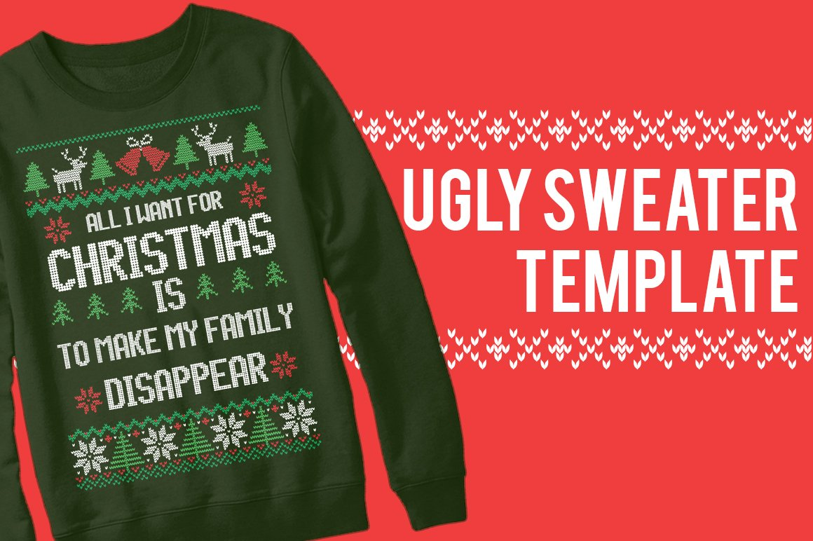 Ugly Sweater Templates (50%OFF) ~ Templates ~ Creative Market
