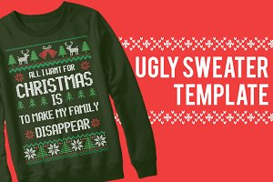 Ugly Sweater Christmas Templates