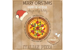 Christmas Pizza Menu
