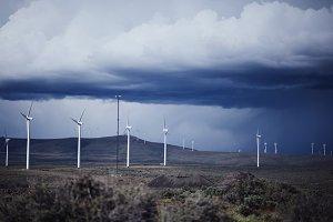 Storm Clouds & Washington Windmills