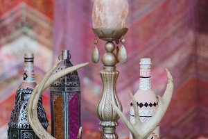 Pink Bohemian Styled Table Decor