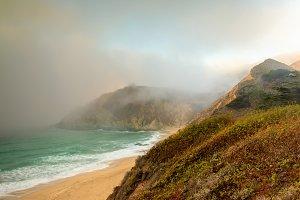 Fog Creeping in California Coastline