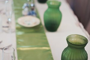 Green and White Wedding Decorations