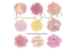 Princess Pink Watercolour Circles