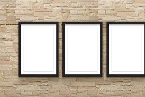 Set 6 Poster ,frame square, mockup