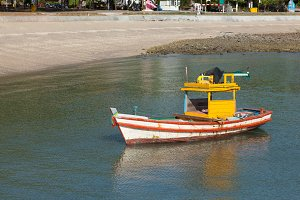 Small fishing boat.