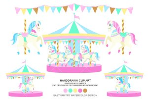 Carousel Horse Carnival Clip Art