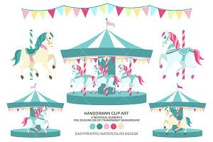 Carousel Clip Art Merry go round