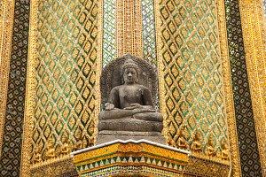 Buddha temple wall.