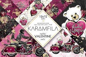 Valentines Day Digital Paper