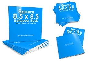 Square Softcover Book Mockup