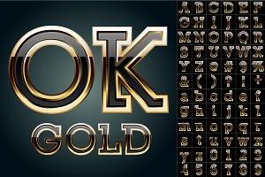 Black font with golden border