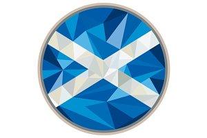 Scotland Flag Icon Circle Low Polygo