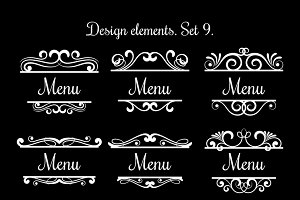 Swirl menu text labels