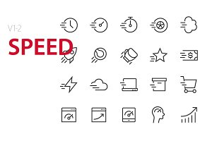 40 Speed UI icons