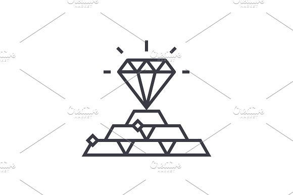 Commodities Concept Concept Vector Thin Line Icon Symbol Sign Illustration On Isolated Background