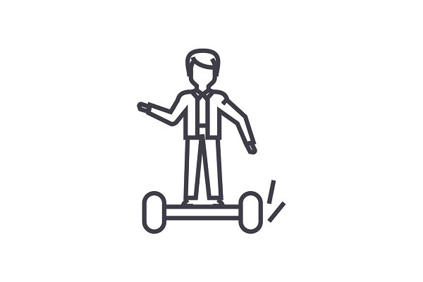 man on gyroscooter concept vector t…