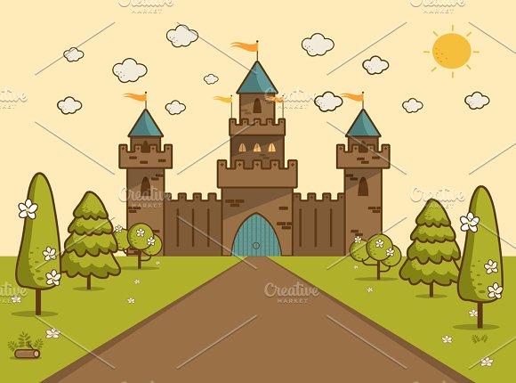Castle on Hill Landscape