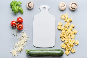 Vegetarian Tortellini cooking