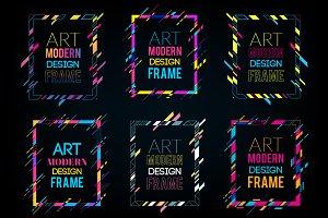 9 Modern art frames. Dynamic frames