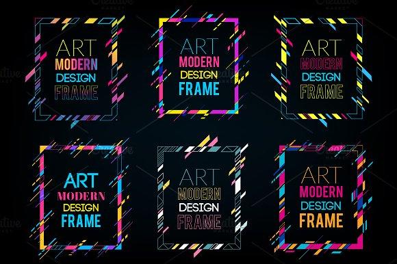 9 modern art frames dynamic frames illustrations - Dynamic Frames