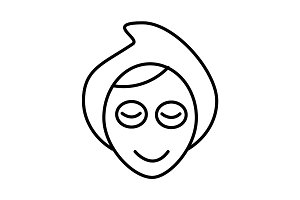 face, spa, mask vector line icon, sign, illustration on background, editable strokes