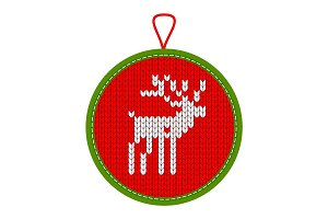 Christmas knitted reindeer