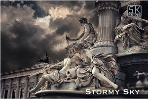 5K Stormy Sky Overlays