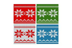 Christmass  knitted color pattern