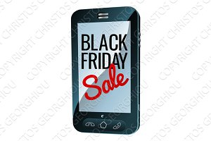 Black Friday Sale Mobile Phone Sign
