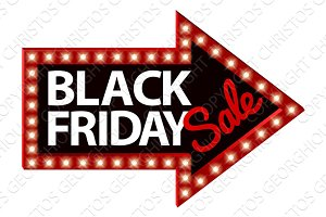 Black Friday Sale Sign Arrow