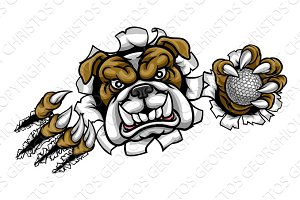 Bulldog Golf Sports Mascot