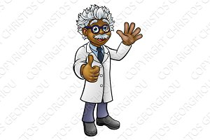 Scientist Professor Cartoon Character