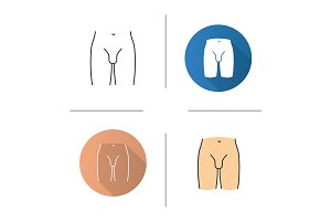 Male groin icon
