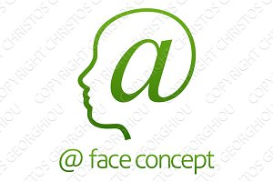At Sign Profile Face Concept
