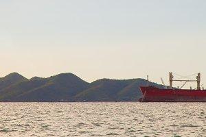 panorama cargo ship