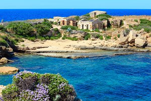 Sicily summer sea beach, Italy