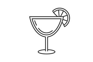 Margarita cocktail linear icon